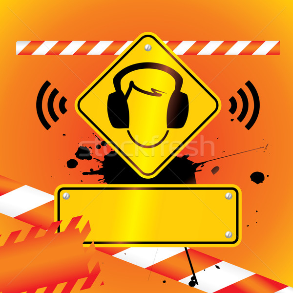 ear protection must be worn background Stock photo © ojal