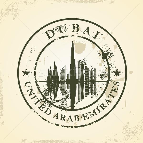 Grunge rubber stamp with Dubai, UAE Stock photo © ojal