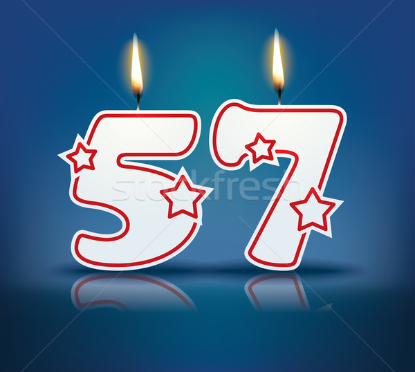 Birthday candle number 57 Stock photo © ojal