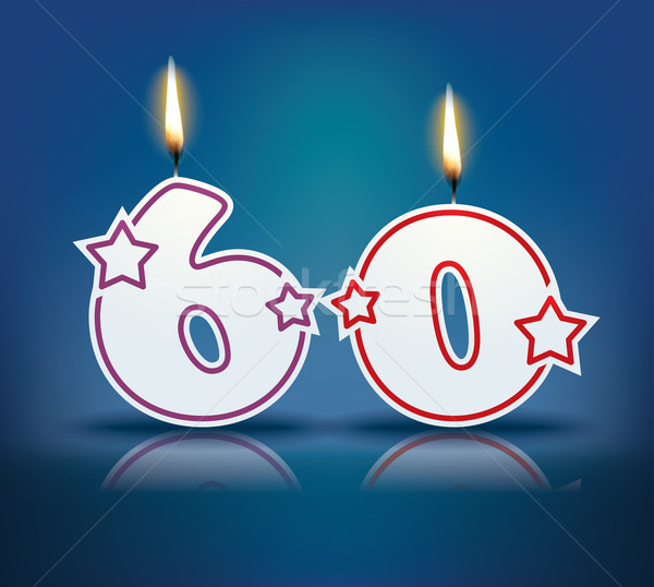 Birthday candle number 60 Stock photo © ojal
