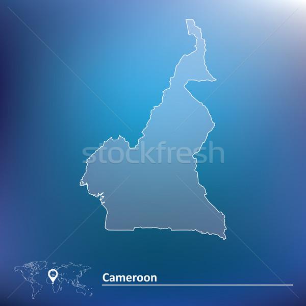 Mapa Camarões textura abstrato mundo bandeira Foto stock © ojal