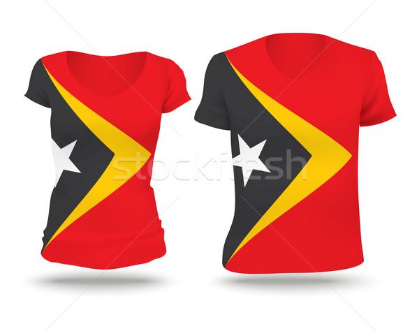 Flag shirt design of Timor-Leste Stock photo © ojal