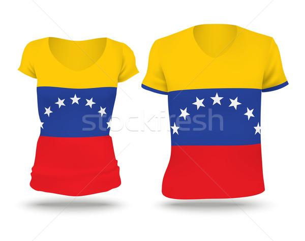 Flag shirt design of Venezuela Stock photo © ojal