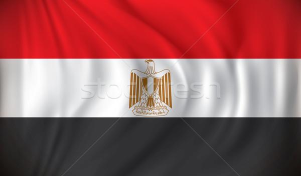 Zászló Egyiptom város absztrakt háló utazás Stock fotó © ojal