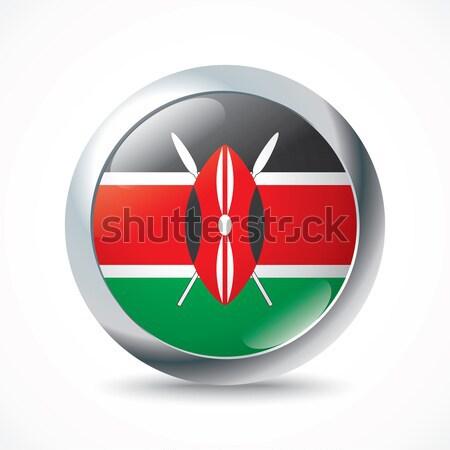 Kenya flag button Stock photo © ojal