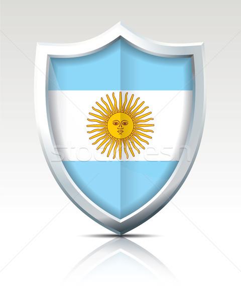 Bouclier pavillon Argentine résumé lumière fond Photo stock © ojal