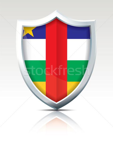Schild vlag centraal afrikaanse republiek stad Stockfoto © ojal