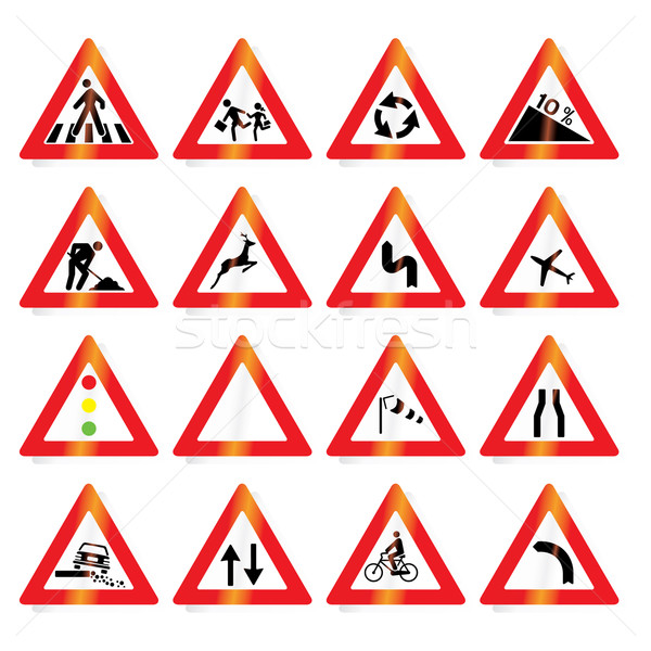 road signs (vector) Stock photo © ojal