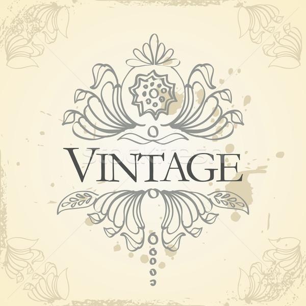 вектора Vintage кадр дизайна бумаги аннотация Сток-фото © ojal