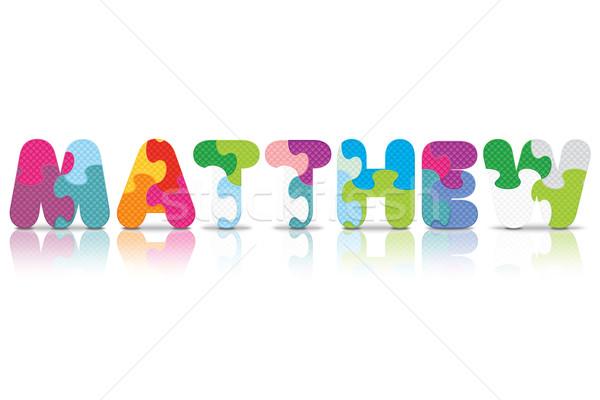 Vector MATTHEW written with alphabet puzzle Stock photo © ojal