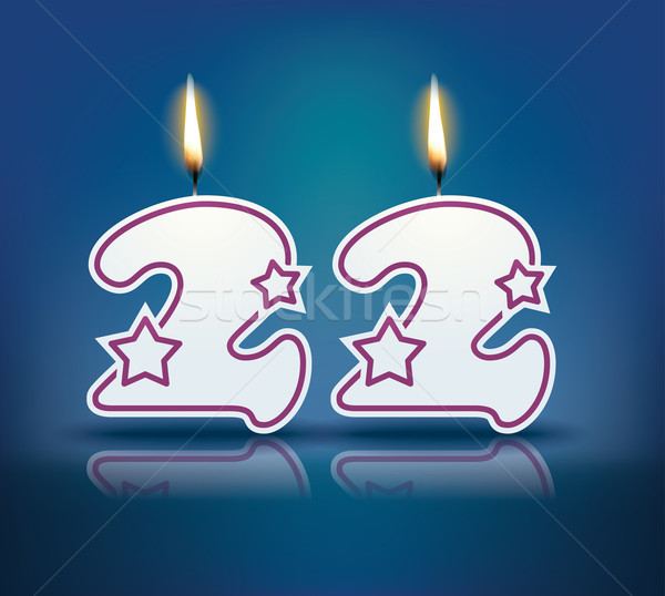 Birthday candle number 22 Stock photo © ojal