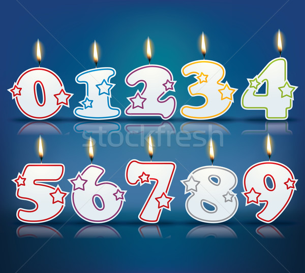 Birthday candle numbers Stock photo © ojal