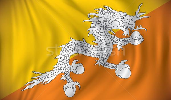 Vlag Bhutan textuur abstract aarde web Stockfoto © ojal