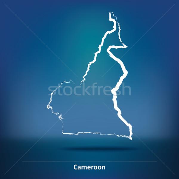 Firka térkép Kamerun textúra absztrakt terv Stock fotó © ojal