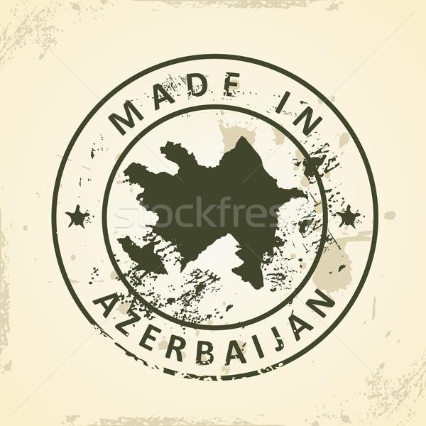 Carimbo mapa Azerbaijão grunge textura abstrato Foto stock © ojal