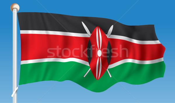 Pavillon Kenya texture monde fond signe Photo stock © ojal