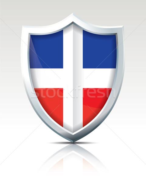 Escudo bandeira República Dominicana cidade projeto mundo Foto stock © ojal