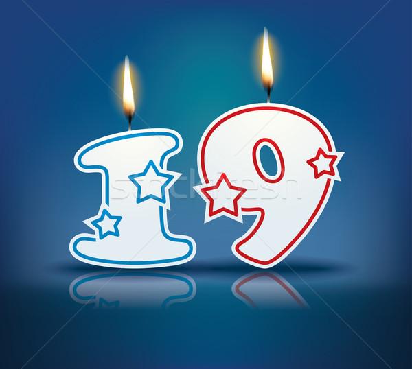рождения свечу числа 19 пламени прибыль на акцию Сток-фото © ojal