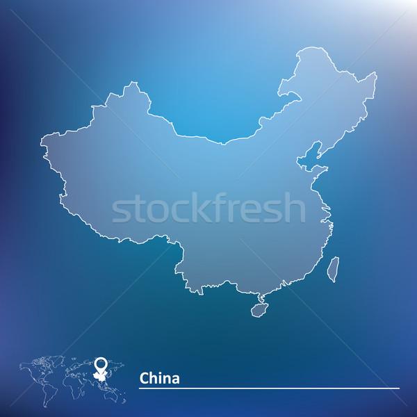 Harita Çin doku toprak bayrak renk Stok fotoğraf © ojal