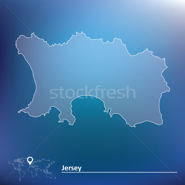 Map of Jersey Stock photo © ojal