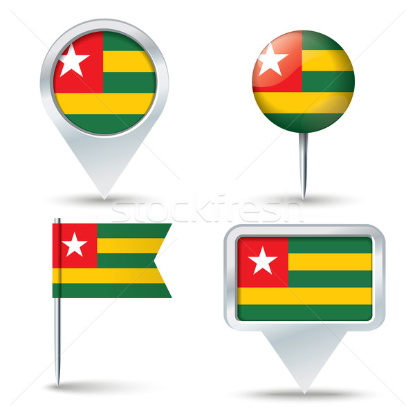 Mappa bandiera Togo business strada bianco Foto d'archivio © ojal
