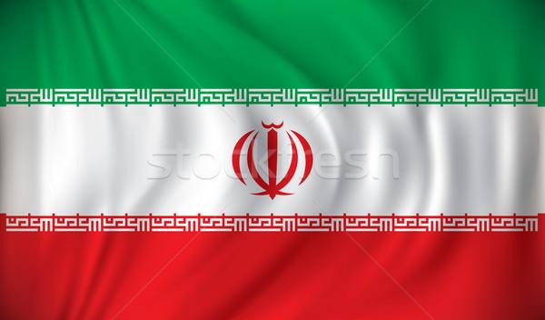Zászló Irán zöld utazás piros benzin Stock fotó © ojal