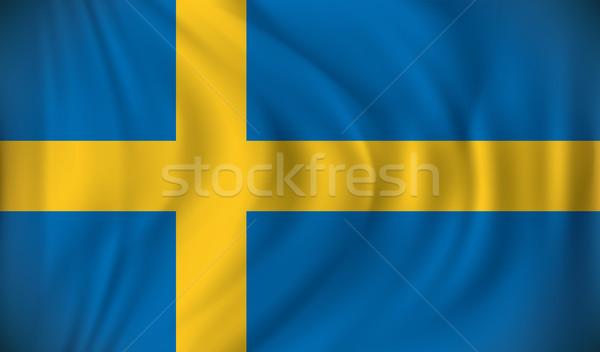 Vlag Zweden kaart abstract wereld reizen Stockfoto © ojal