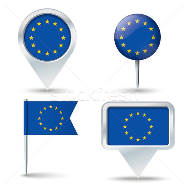 карта флаг европейский Союза бизнеса дороги Сток-фото © ojal