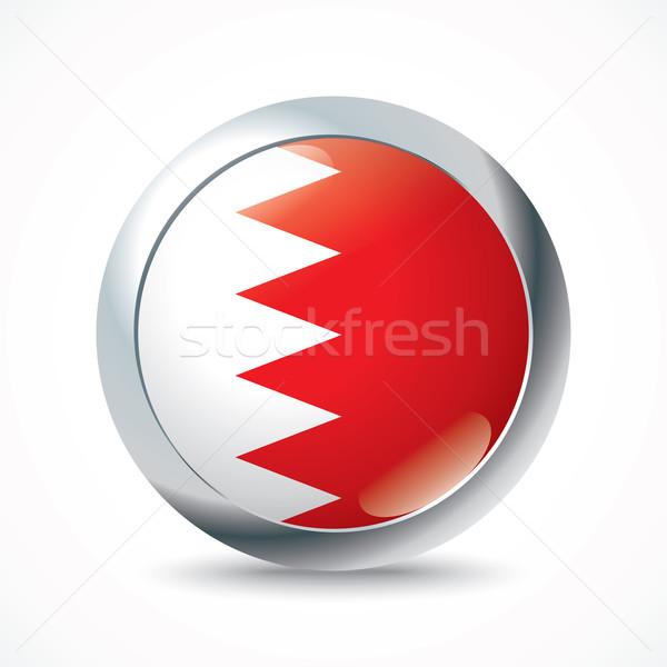 Bahrein bandeira botão abstrato silhueta asiático Foto stock © ojal
