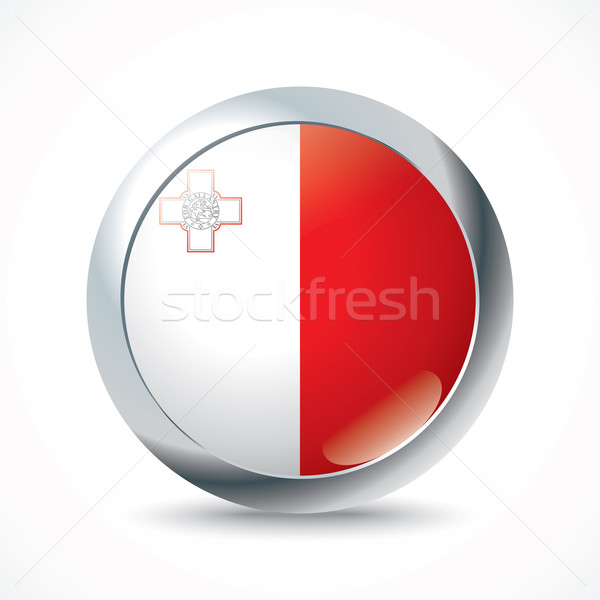 Мальта флаг кнопки текстуры фон знак Сток-фото © ojal