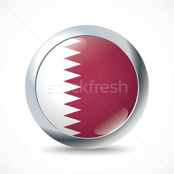 Qatar flag button Stock photo © ojal