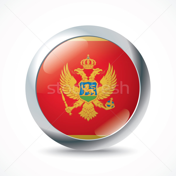 Montenegro vlag knop textuur muur wereld Stockfoto © ojal
