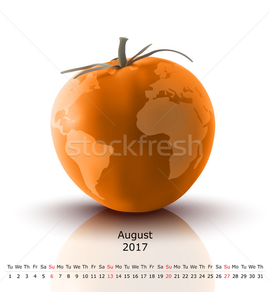 August 2017 tomato calendar Stock photo © ojal