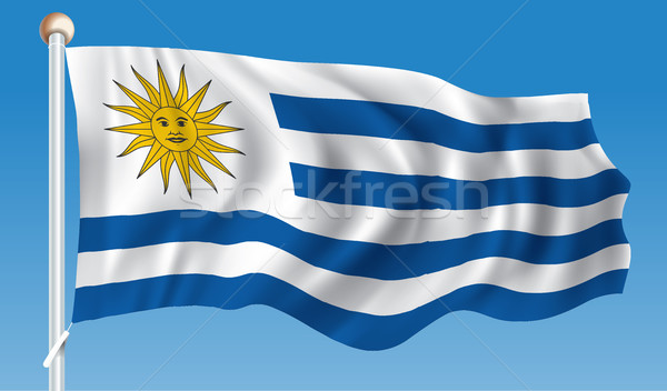 флаг Уругвай город солнце карта аннотация Сток-фото © ojal