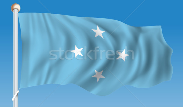 Bandeira Micronésia arte estrela cor ilha Foto stock © ojal