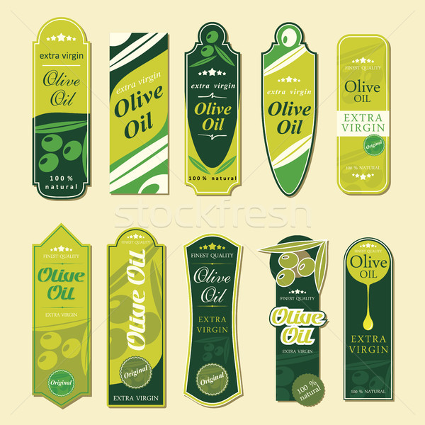 Olive Oil Labels Stock photo © ojal
