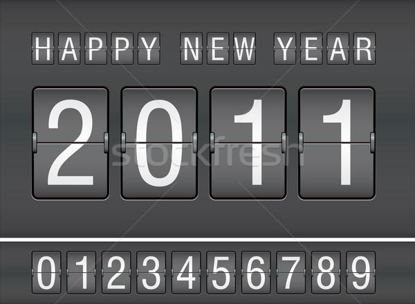 2011 nowy rok mechaniczny wynik tle Zdjęcia stock © ojal