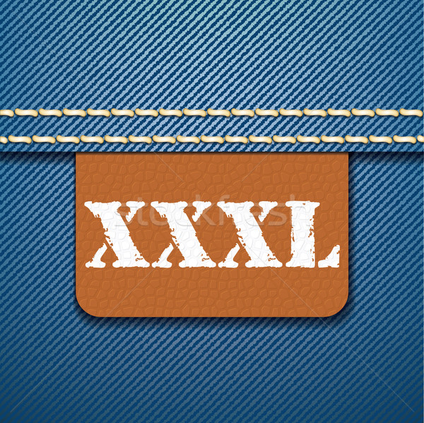 XXXL size clothing label - vector Stock photo © ojal