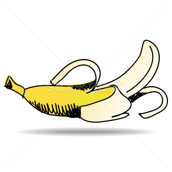 Freehand drawing banana icon Stock photo © ojal