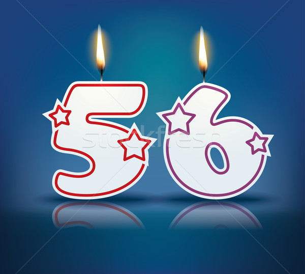 Birthday candle number 56 Stock photo © ojal