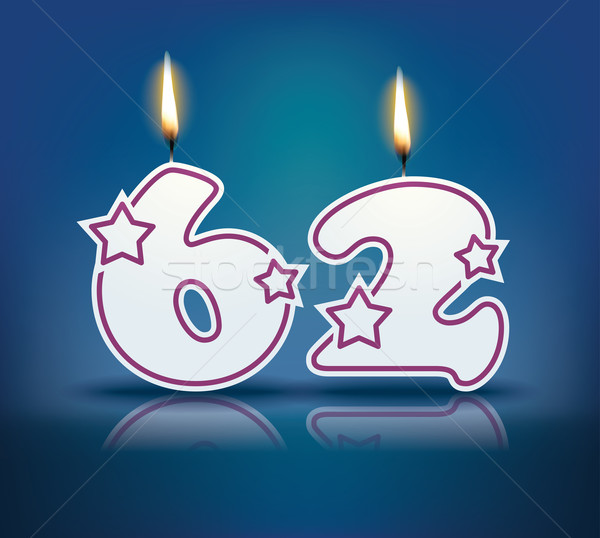 Birthday candle number 62 Stock photo © ojal