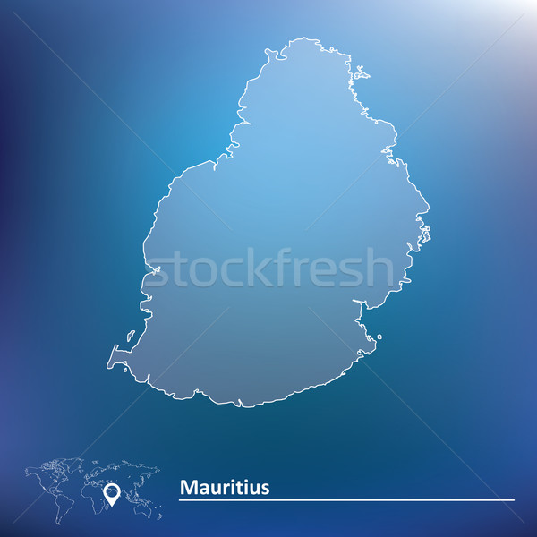 Map of Mauritius Stock photo © ojal