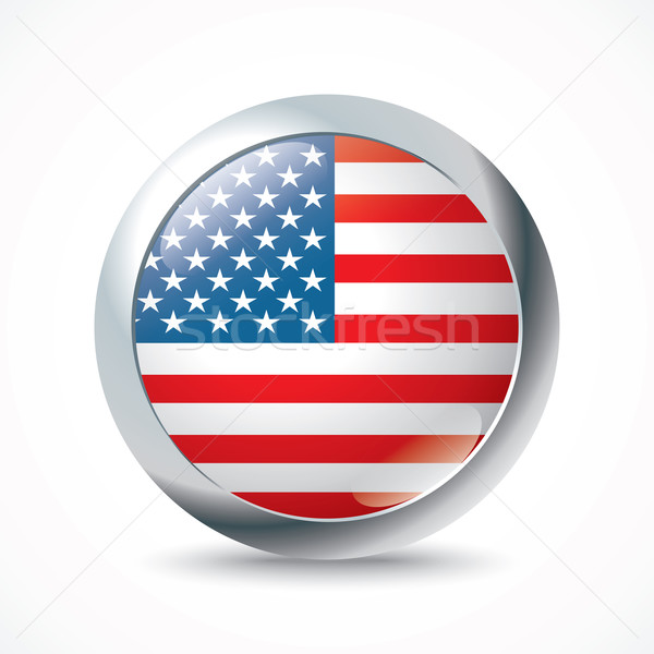 United States of America flag button Stock photo © ojal