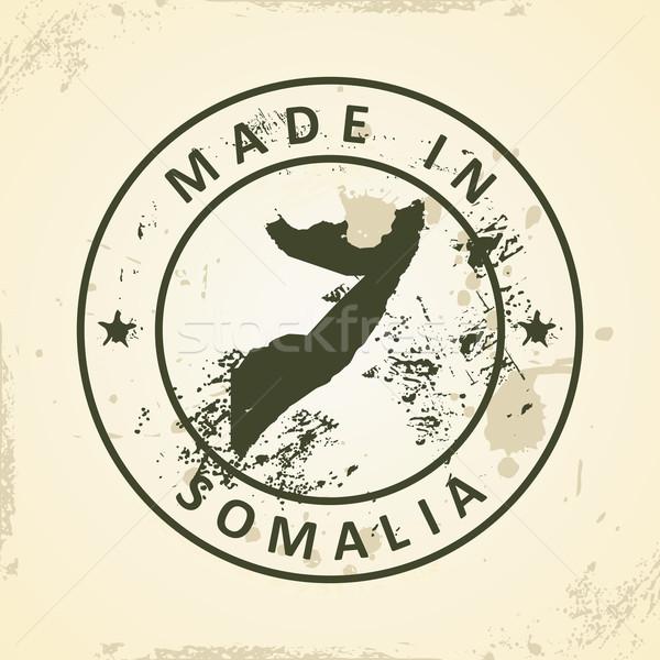 Tampon carte Somalie grunge monde signe Photo stock © ojal