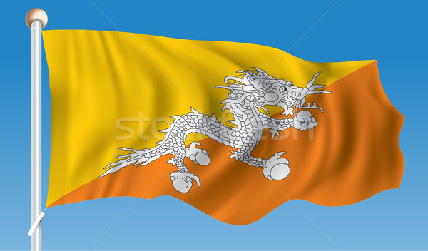 Foto stock: Bandeira · Butão · água · abstrato · mundo · terra