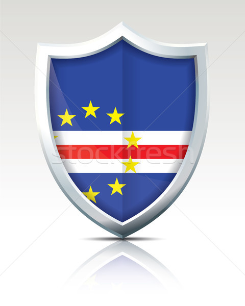 Stock photo: Shield with Flag of Cape Verde