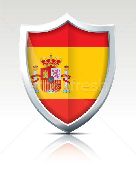 Escudo bandeira Espanha mundo viajar vento Foto stock © ojal