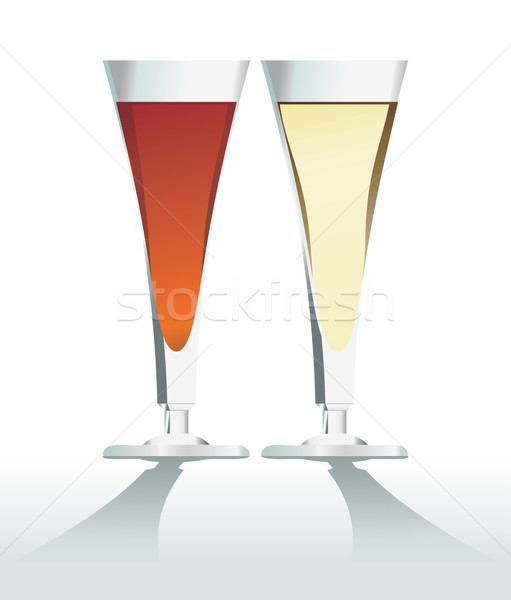 red and white wine Stock photo © ojal