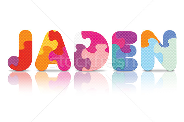 Vector JADEN written with alphabet puzzle Stock photo © ojal