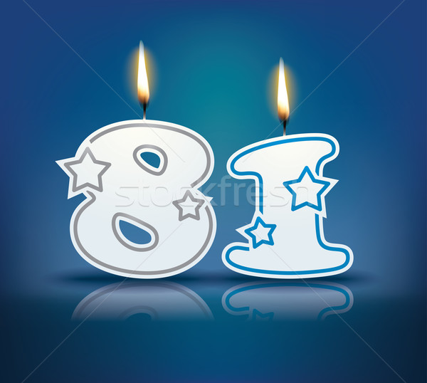 Birthday candle number 81 Stock photo © ojal